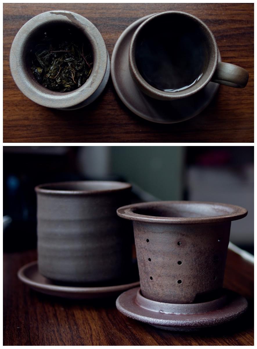 陶作坊-老岩泥-同心杯